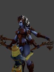 Bastet and Kali