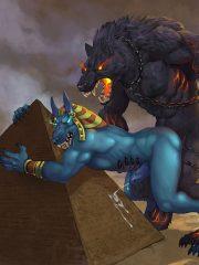 Anubis and Fenrir