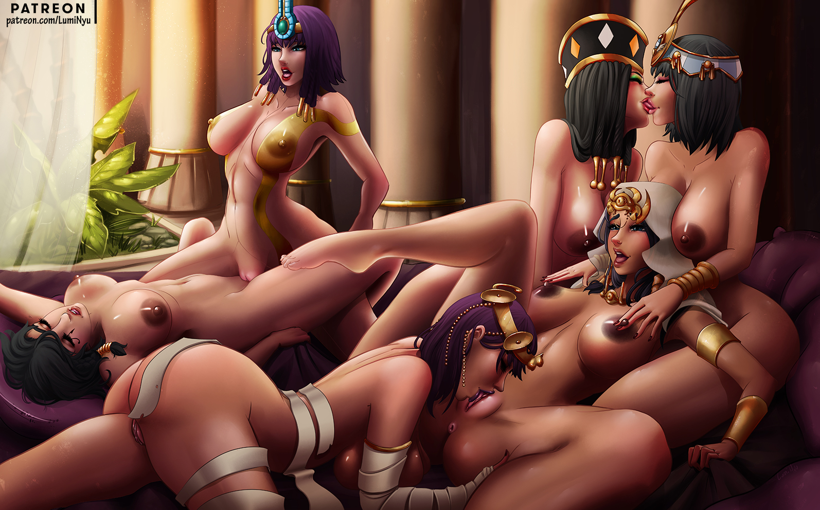 Neith Overlook Pharah Queen's_Blade Smite Street_Fighter Yu-Gi-Oh! crossover